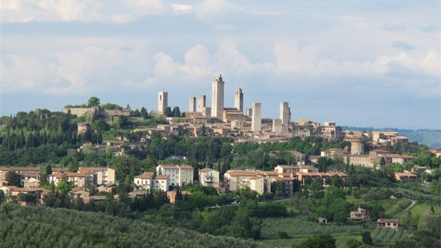 Paroramic view of St Gimignano