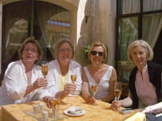 Good friends enjoying good times on tour in Provence