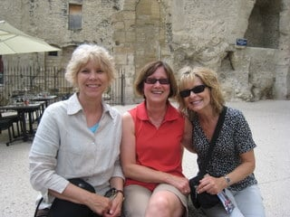 Making new friends on tour in Provence