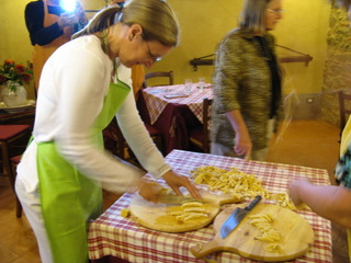 Pasta making class in Tuscany