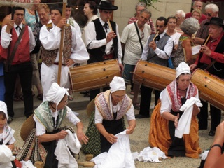 French folk cuture in small hilltop towns