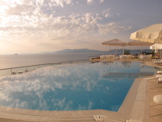 Our beautiful hotel on the Aegean during our Turkish Aromatic Odyssey