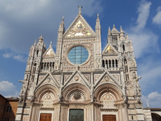Magnificent renaissance architecture of the Duomo in Siena