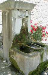 Typical village fountain