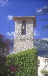 One of Provence's hidden treasures - a lovely small village bell tower in the shadow of Mt Ventoux - truffle territory