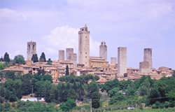 The many towered village of St Gimignano