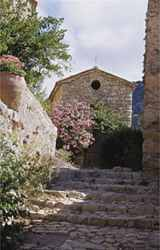 Charming village laneway in Provence with delights around every corner