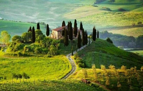 The beautiful hills of Tuscany, part of our Aromas of Tuscany Tour