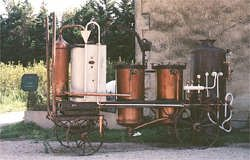 Portable still for creating eau de vie in Provence