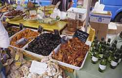 Provencale market with local produce