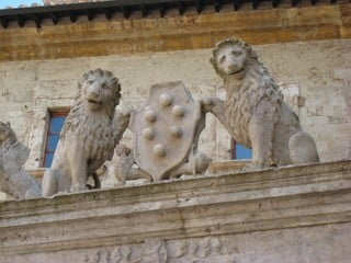 Medici lions in Tuscany Italy