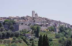 The famous village of St Paul de Vence on the Cote d'Azur